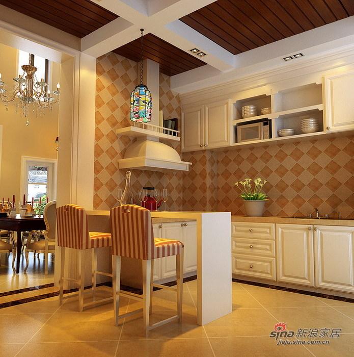 欧式 别墅 厨房图片来自用户2557013183在绝对惊艳280平简欧品质别墅生活73的分享