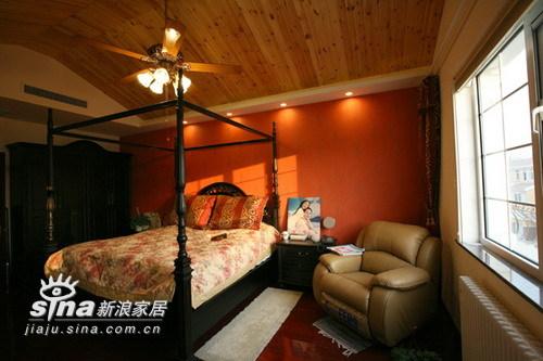 欧式 别墅 卧室图片来自用户2557013183在实创装饰加州水郡连排别墅58的分享