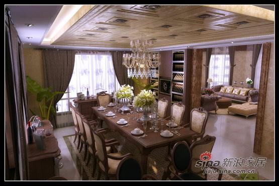 混搭 别墅 餐厅图片来自用户1907689327在400㎡别墅的奢侈混搭58的分享