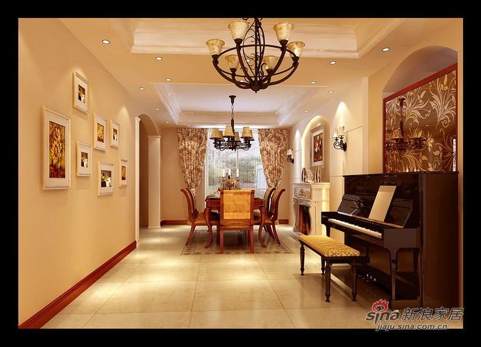 欧式 三居 餐厅图片来自用户2746948411在9.4万搭建160平皇朝宫殿31的分享