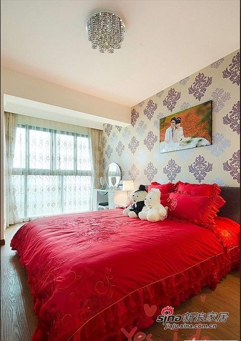 简约 二居 卧室图片来自用户2737950087在80后爱侣5.6万装95平两居简约婚房70的分享