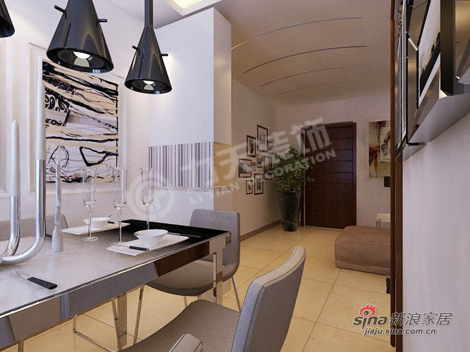 简约 二居 餐厅图片来自阳光力天装饰在107平旷世新城简约75的分享