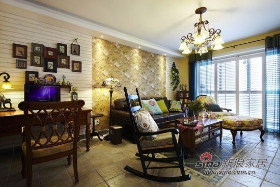 田园 二居 客厅图片来自佰辰生活装饰在90平复古风潮田园风格2居36的分享