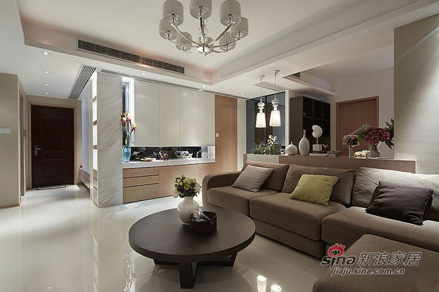 现代 二居 客厅图片来自佰辰生活装饰在15万营造86平时尚简约婚房78的分享