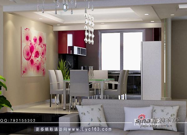 简约 三居 餐厅图片来自用户2558728947在银港水晶城样板房23的分享