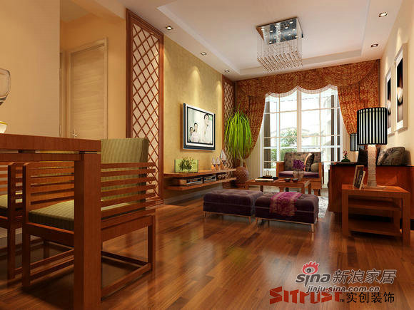 简约 三居 客厅图片来自用户2737759857在简中风格打造韦伯豪小区54的分享