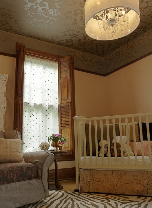 美式经典儿童房吊顶装修