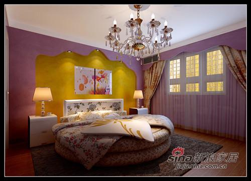 卧室床头背景墙和整个空间结合,是整个房间