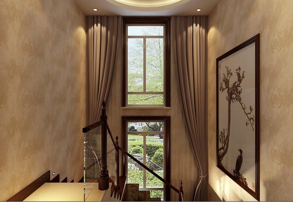 中式 别墅 楼梯图片来自用户1907696363在270平米复式结构现代中式风格打造舒适家居94的分享