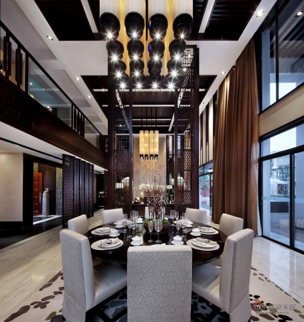 中式 别墅 餐厅图片来自用户1907659705在【高清】东方禅意——方直君御企业会所85的分享