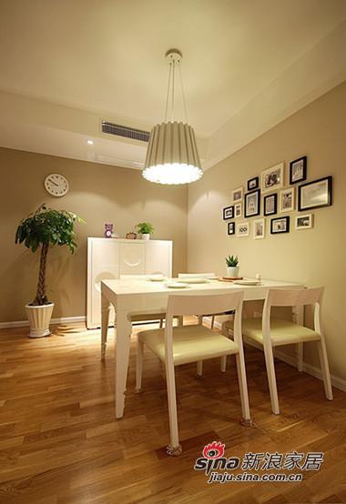 简约 三居 餐厅图片来自用户2738093703在时尚白领5.8万装110平现代温馨两室44的分享