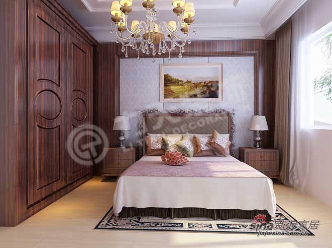 欧式 三居 卧室图片来自阳光力天装饰在泽信金汇湾-137㎡65的分享