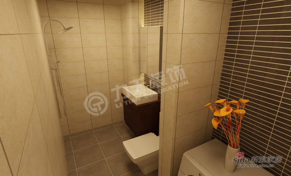 简约 三居 卫生间图片来自阳光力天装饰在万通新城-3室2厅2卫1厨-现代简约43的分享