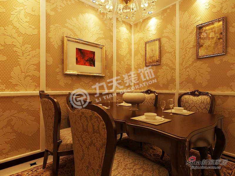 欧式 一居 餐厅图片来自阳光力天装饰在上榀坐-1室2厅1卫1厨-欧式风格82的分享