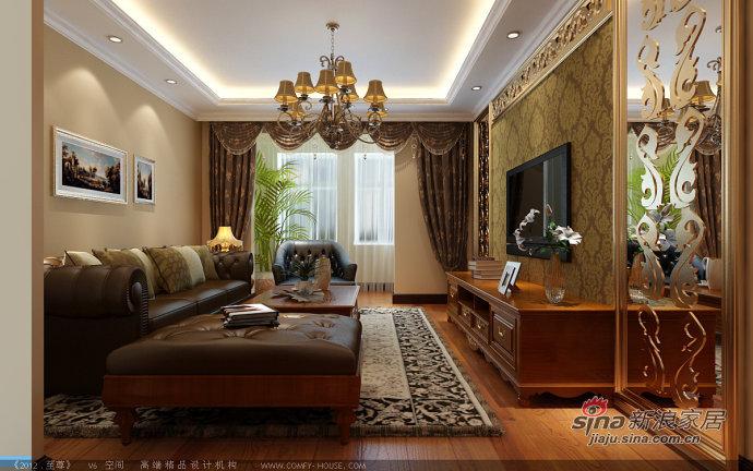 美式 二居 客厅图片来自用户1907686233在8.5万打造莱茵小镇92平美式两居24的分享