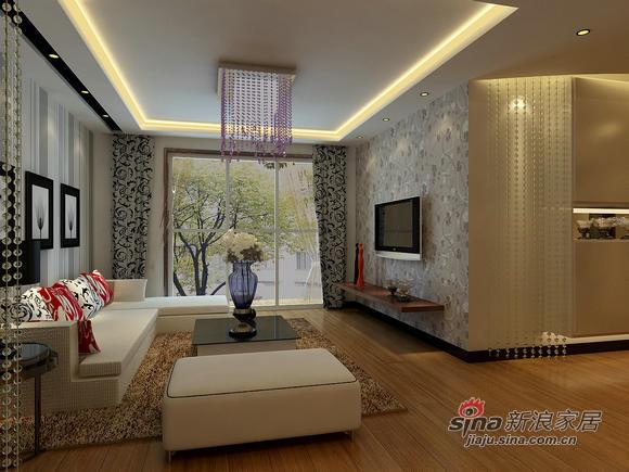 简约 二居 客厅图片来自用户2556216825在5万打造85㎡精致简约2居室96的分享