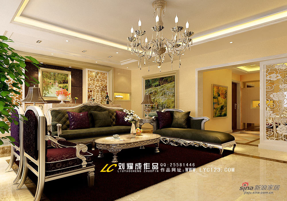 欧式 四居 客厅图片来自用户2746948411在后现代设计-演绎低调奢华29的分享
