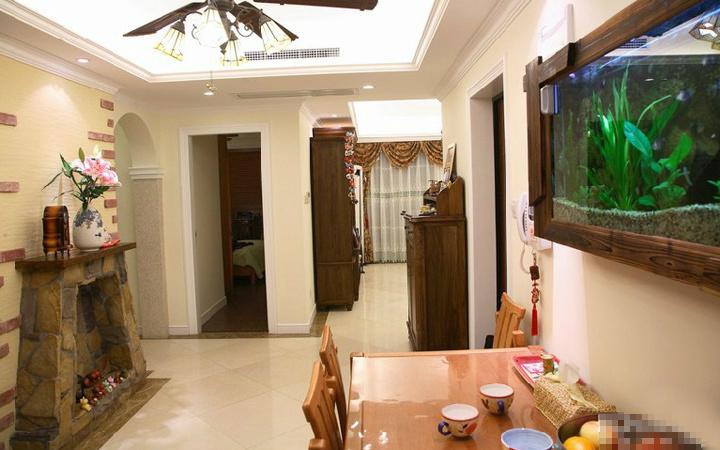 田园 二居 餐厅图片来自用户2737791853在20万装110平田园简约混搭舒适居33的分享