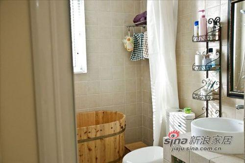 简约 二居 卫生间图片来自用户2738829145在宅男宅女玩转88平小婚房18的分享