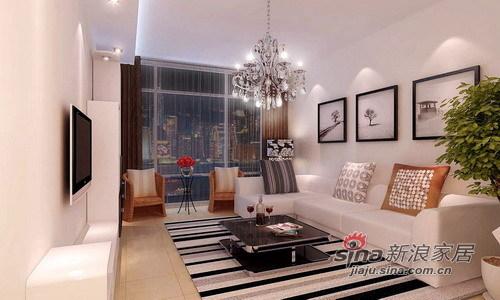 简约 一居 客厅图片来自用户2739153147在100平米装修案例 搭出一个温暖的栖居之所75的分享