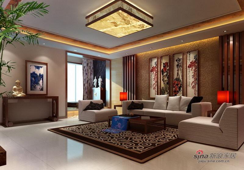 中式 四居 客厅图片来自用户1907696363在12万全包144平静高雅婚房63的分享