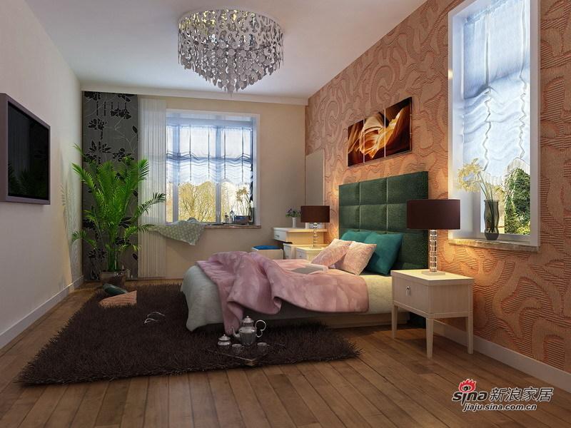 简约 三居 卧室图片来自用户2557979841在简洁大方·时尚的150㎡三居设计71的分享