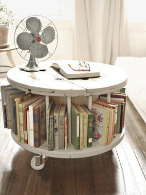可爱的旋转小书架
