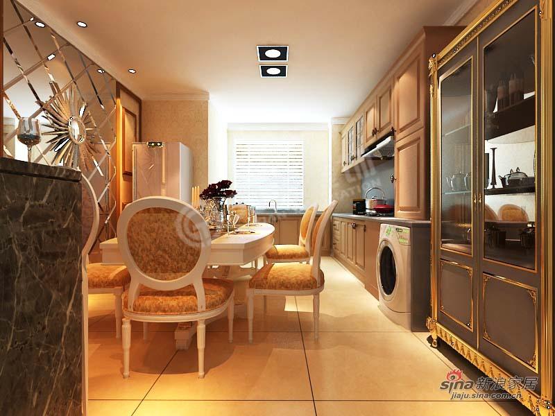 欧式 三居 餐厅图片来自阳光力天装饰在金城嘉园-三室一厅两卫一厨-欧式风格64的分享