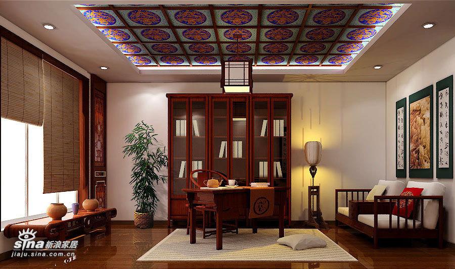 中式 四居 书房图片来自用户2757926655在沉稳大气 完全中国风34的分享