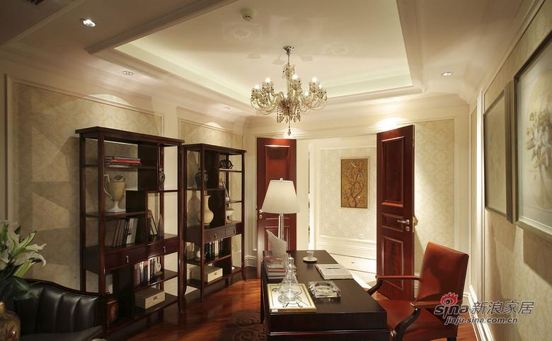 美式 三居 书房图片来自佰辰生活装饰在9万打造120平时尚美式三口之家81的分享
