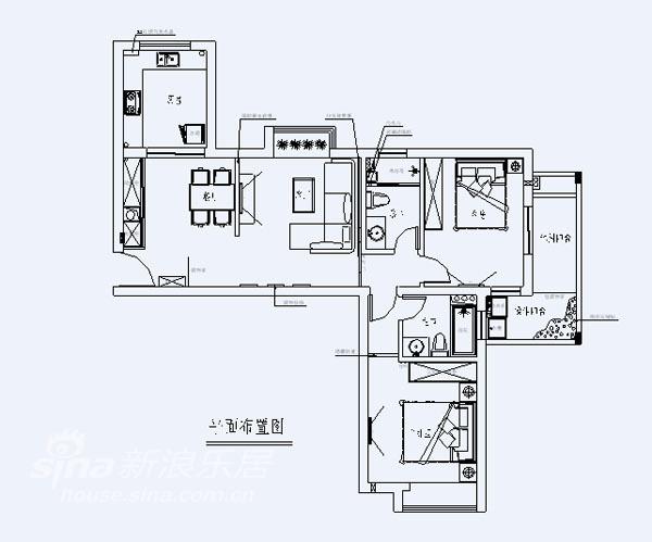 简约 二居 户型图图片来自用户2557010253在田园风格95的分享