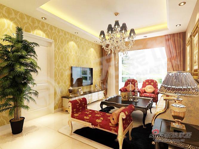 欧式 二居 客厅图片来自用户2772873991在78平米精致欧式小奢华92的分享