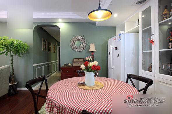 美式 二居 餐厅图片来自用户1907686233在80后小夫妻100平美式小2居24的分享