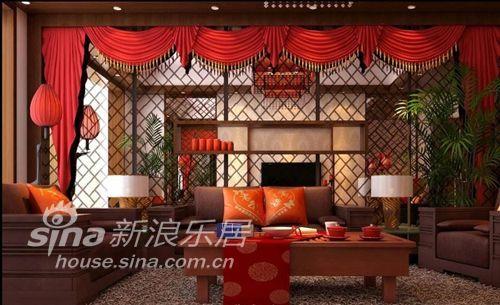 中式 二居 客厅图片来自用户2740483635在浪漫中国红75的分享