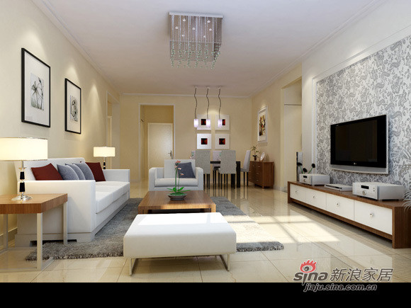 简约 二居 客厅图片来自用户2738093703在5.6万打造80平米现代简约2居室89的分享