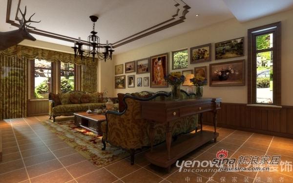 美式 别墅 客厅图片来自用户1907686233在美式怀旧 红磡领世郡别墅92的分享