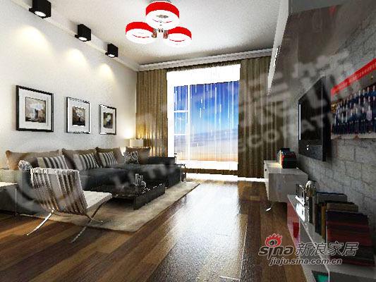 简约 二居 客厅图片来自阳光力天装饰在75平米时尚两居室98的分享