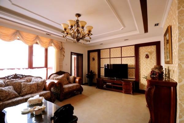 工程造价6万打造170平米三室两厅-美式