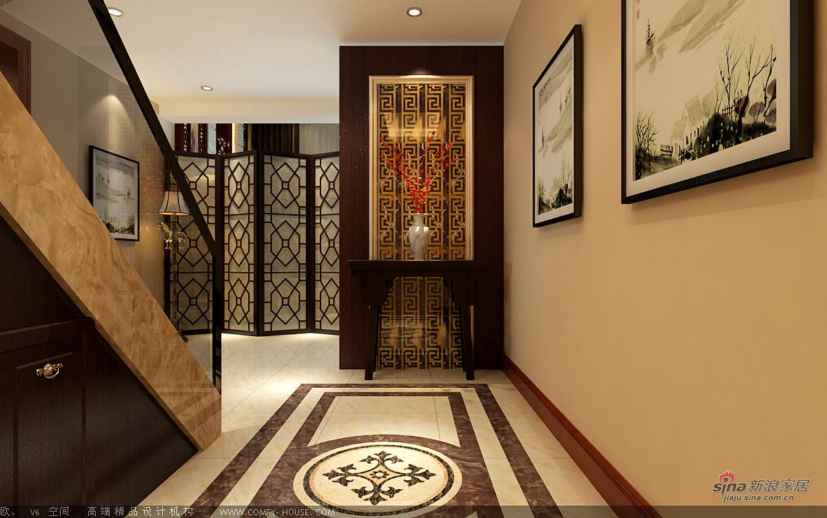 中式 别墅 玄关图片来自用户1907662981在新中式风格设计84的分享