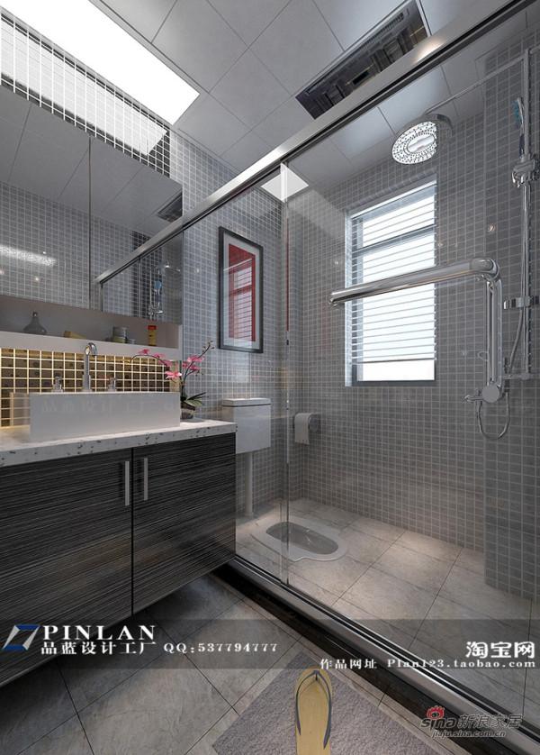 素净简约风格淋浴房设计,简约风格卫生间设