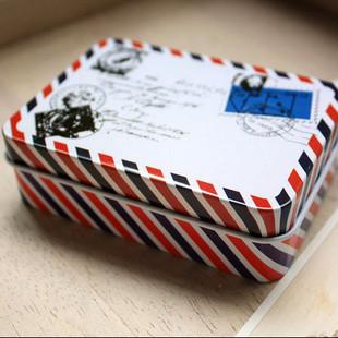 复古铁皮收纳盒 铁皮盒 信封盒 收纳