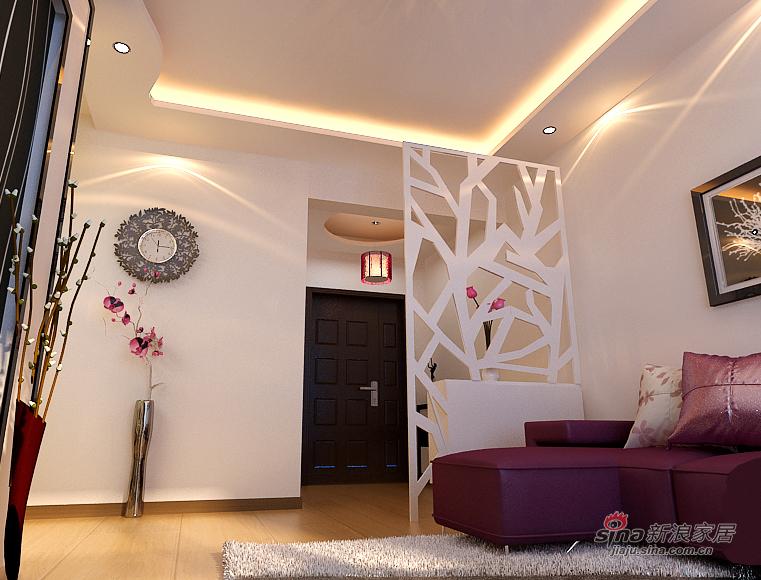 简约 二居 玄关图片来自用户2738820801在5.5万打造恒祥城100平米现代简约两室一厅59的分享