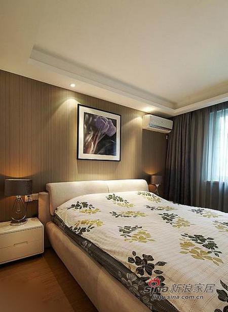 现代 三居 卧室图片来自佰辰生活装饰在9万打造110平质感元素三居室36的分享