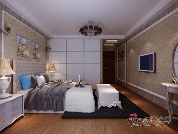 简约 二居 卧室图片来自用户2737782783在5万打造80平欧式美家79的分享