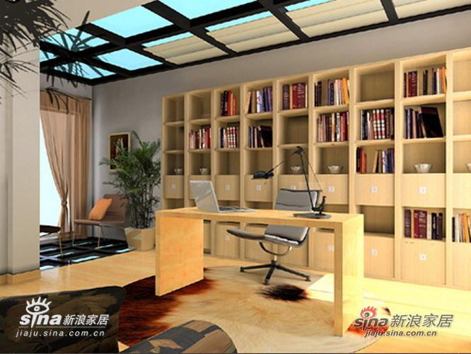简约 复式 书房图片来自用户2738813661在和谐自然的居室之美26的分享