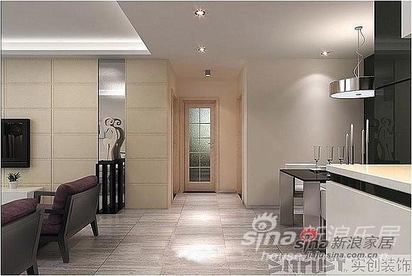 卫生间采用磨砂玻璃,保持通透性和阳光充足