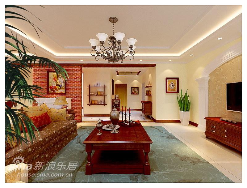 欧式 复式 客厅图片来自用户2557013183在美式乡村-248平阳光波尔多情怀79的分享
