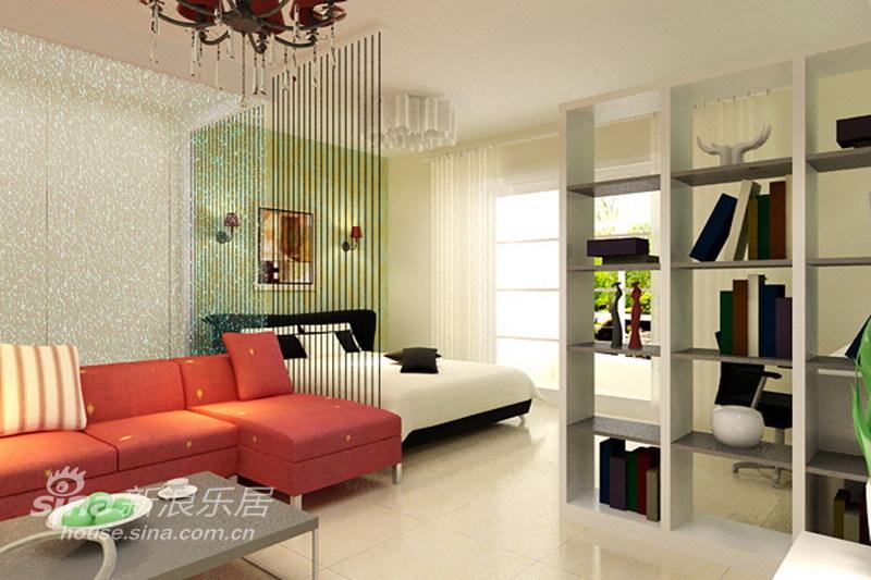简约 一居 客厅图片来自用户2556216825在显大空间,49平现代简约经典蜗居89的分享