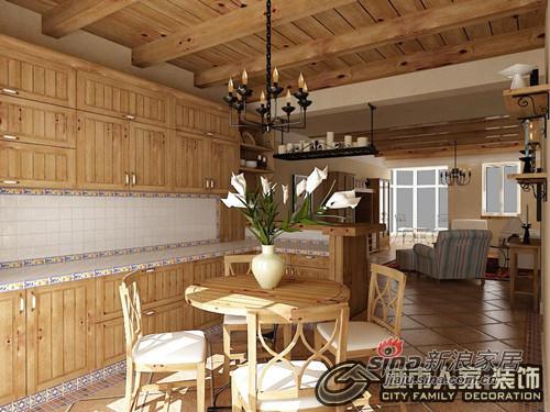 美式 二居 厨房图片来自用户1907686233在原木风格两居-自然的回归92的分享