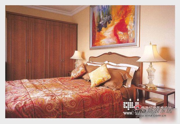 欧式 三居 卧室图片来自用户2772873991在130平全包仅花25万打造混搭经典三居26的分享
